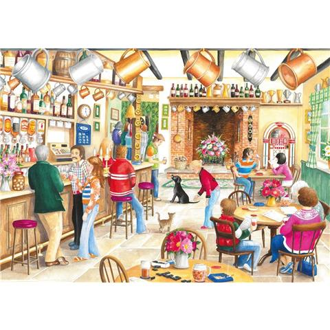 A Summer Evening at the Pub Jigsaw Puzzle ( 2 X 500 Pieces )
