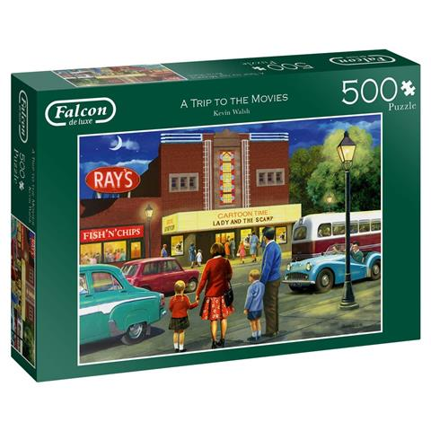 A Trip to the Movies Jigsaw Puzzle ( 500 Pieces )