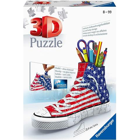 American Style Sneakers 3D Jigsaw Puzzle ( 108 Pieces )