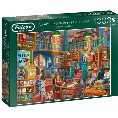 An Afternoon in the Bookshop Jigsaw Puzzle ( 1000 Pieces )
