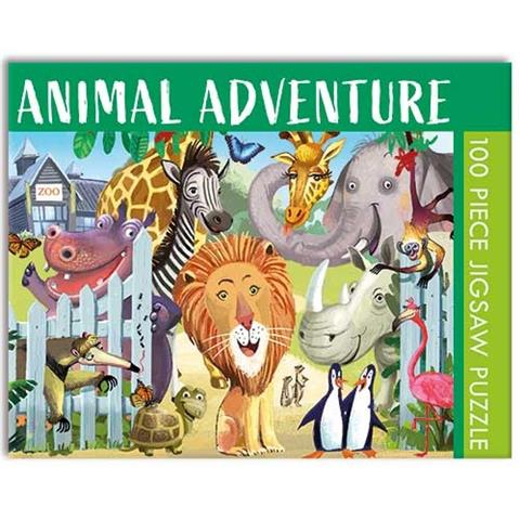 Animal Adventure Jigsaw Puzzle ( 100 Pieces )