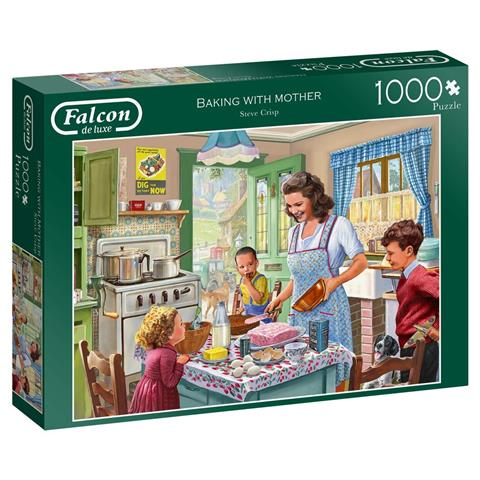 Baking With Mother Jigsaw Puzzle ( 1000 Pieces )
