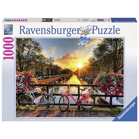 Bicycles in Amsterdam Jigsaw Puzzle ( 1000 Pieces )