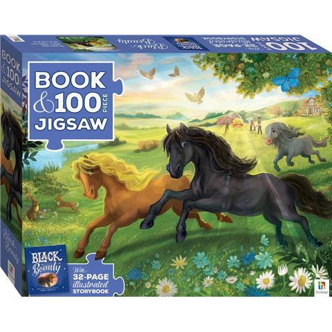 Black Beauty Jigsaw Puzzle ( 100 Pieces ) and Book