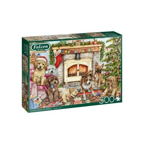 Christmas Puppies Jigsaw Puzzle ( 500 Pieces )