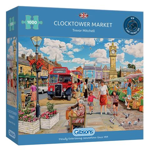 Clock Tower Market Jigsaw Puzzle ( 1000 Pieces )