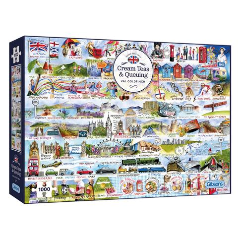 Cream Teas And Queuing Jigsaw Puzzle ( 1000 Pieces )