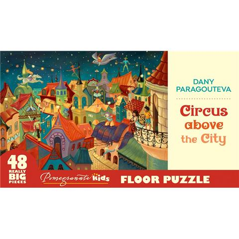 Circus above the City by Dany Paragouteva Floor Jigsaw Puzzle ( 48 XXL Pieces )