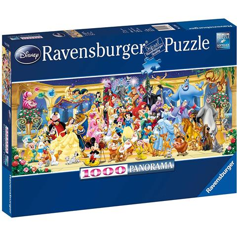 Disney Group Photo Panoramic Jigsaw Puzzle ( 1000 Pieces )