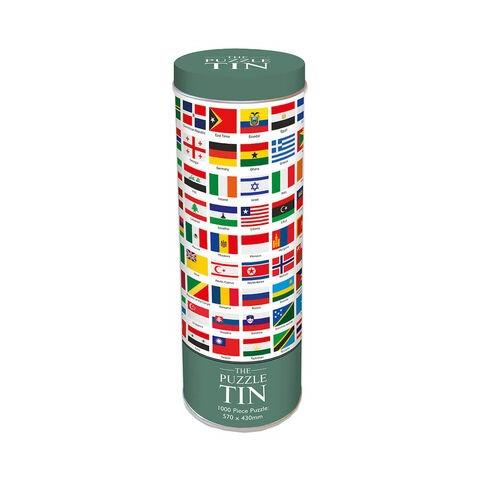 Flags of the World Jigsaw Puzzle in a Tin ( 1000 Pieces )