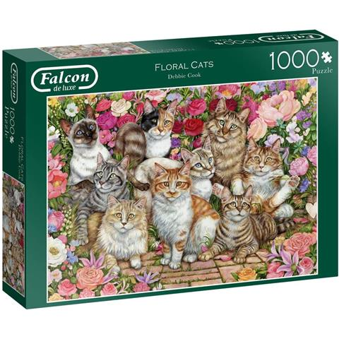 Floral Cats Jigsaw Puzzle ( 1000 Pieces )