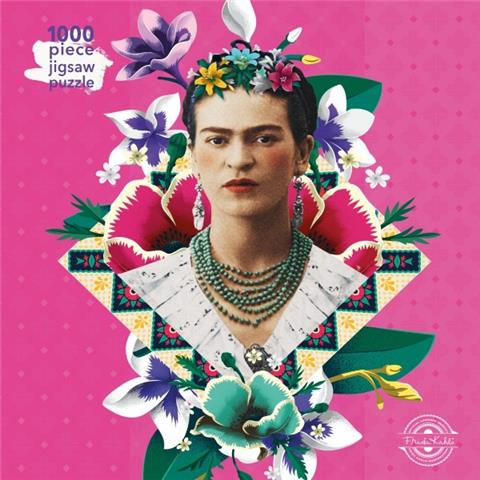 Frida Kahlo Pink Jigsaw Puzzle ( 1000 Pieces )