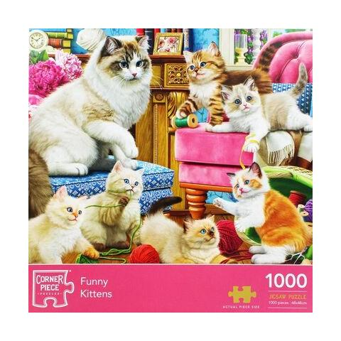 Funny Kittens Jigsaw Puzzle ( 1000 Pieces )
