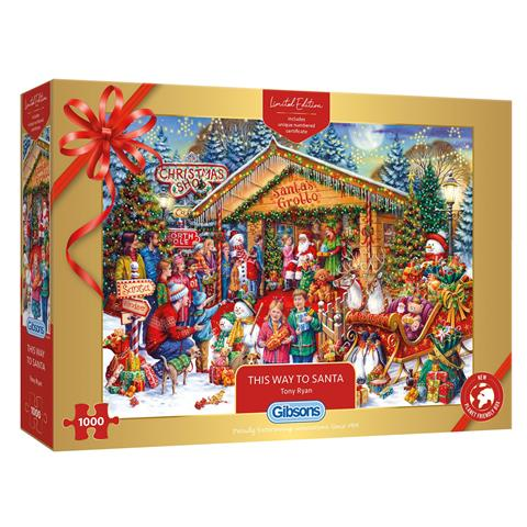 This Way to Santa Limited Edition Jigsaw Puzzle ( 1000 Pieces )