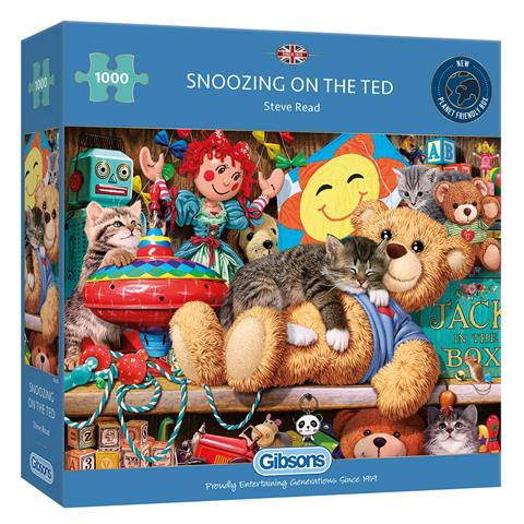 Snoozing on the Ted Jigsaw Puzzle ( 1000 Pieces )