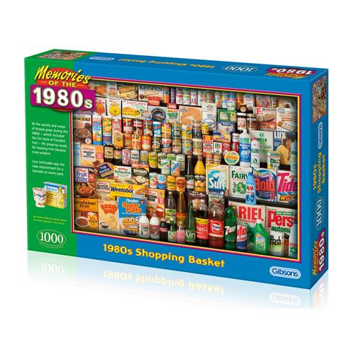 1980s Shopping Basket Jigsaw Puzzle ( 1000 Pieces )
