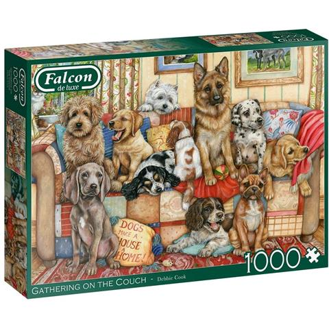 Gathering on the Couch Jigsaw Puzzle ( 1000 Pieces )