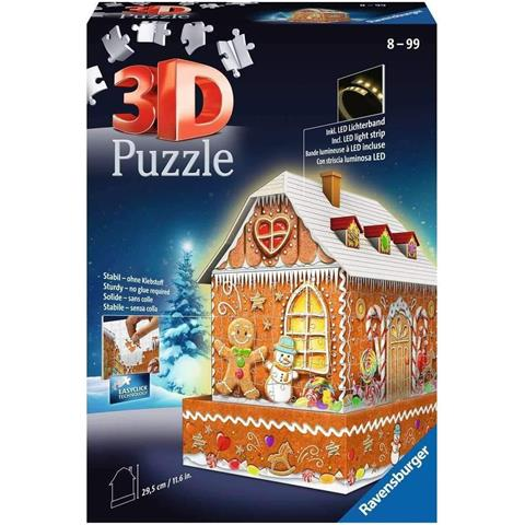 Gingerbread House 3D Jigsaw Puzzle ( 216 Pieces )