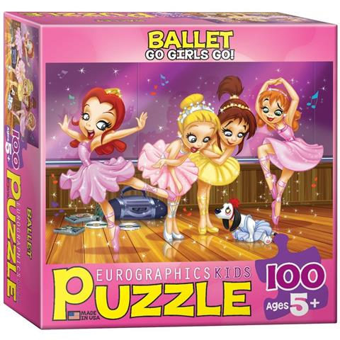 Ballet Go Girls Go Jigsaw Puzzle ( 100 Pieces )