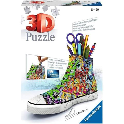 Graffiti Sneakers 3D Jigsaw Puzzle ( 108 Pieces )