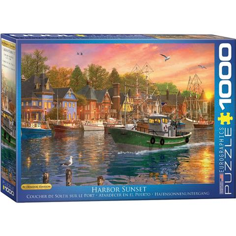 Harbor Sunset Jigsaw Puzzle ( 1000 Pieces )