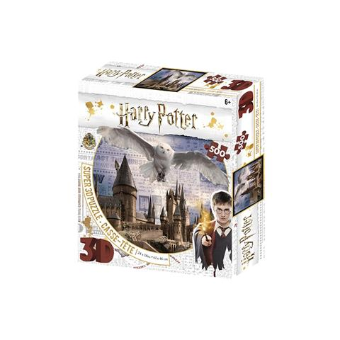 Harry Potter - Hogwarts and Hedwig Prime 3D Jigsaw Puzzle ( 500 Pieces )