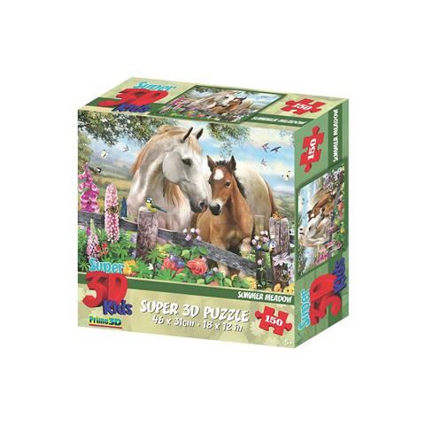 Summer Meadow Prime 3D Jigsaw Puzzle ( 150 Pieces )