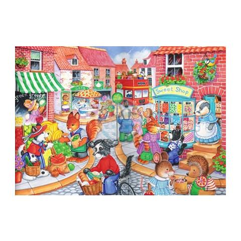 In The Town Jigsaw Puzzle ( 80 Large Pieces )