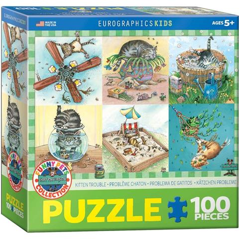 Kitten Trouble Jigsaw Puzzle ( 100 Pieces )