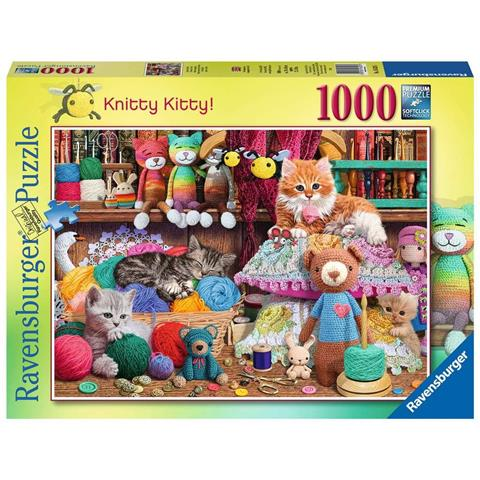 Knitty Kitty Jigsaw Puzzle ( 1000 Pieces )