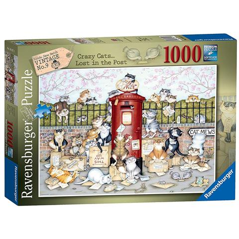 Linda Jane Smith Crazy Cats Lost in the Post Jigsaw Puzzle ( 1000 Pieces )