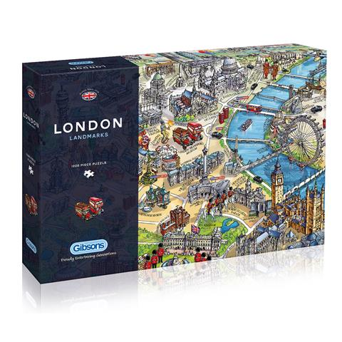 London Landmarks Jigsaw Puzzle ( 1000 Pieces )