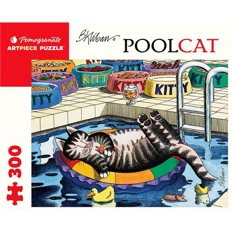 Pool Cat by B. Kliban Jigsaw Puzzle ( 300 Pieces )