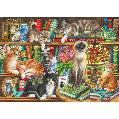 Puss in Books Jigsaw Puzzle ( 1000 Pieces )
