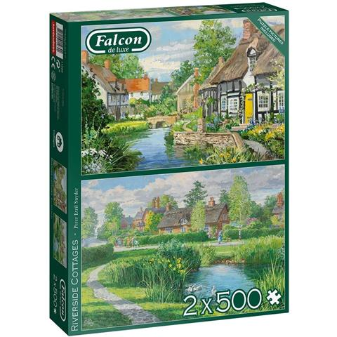 Riverside Cottages Jigsaw Puzzle ( 2 x 500 Pieces )