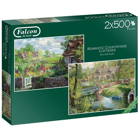 Romantic Countryside Cottages Jigsaw Puzzle ( 2 X 500 Pieces )