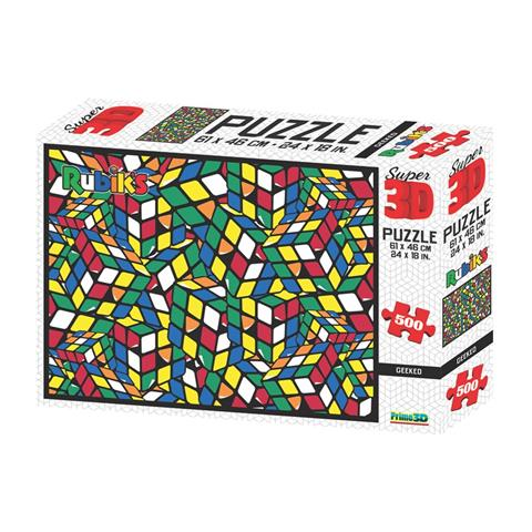 Rubik's Geeked Prime 3D Jigsaw Puzzle ( 500 Pieces )