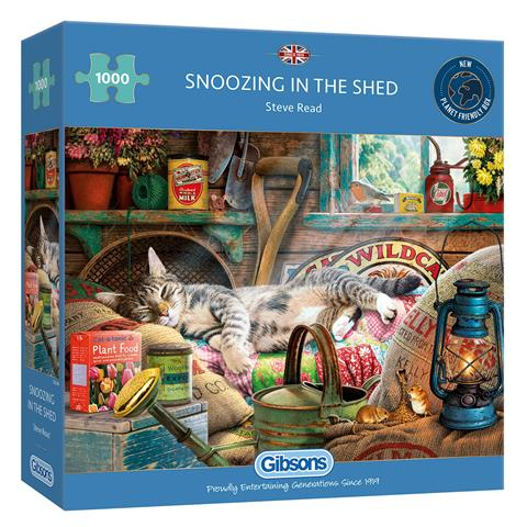 Snoozing in the Shed Jigsaw Puzzle ( 1000 Pieces )
