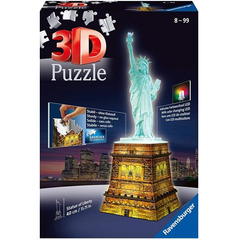 Statue of Liberty Night Edition 3D Jigsaw Puzzle ( 108 Pieces )
