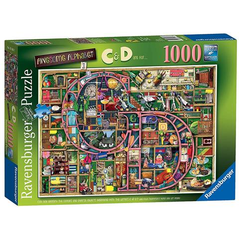 Awesome Alphabet - The Letters C & D Jigsaw Puzzle ( 1000 Pieces )