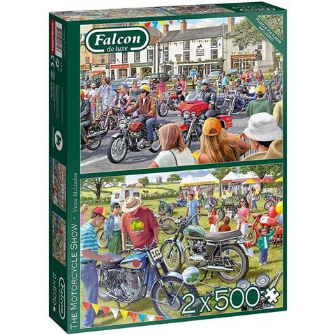 The Motorcycle Show Jigsaw Puzzle ( 2 X 500 Pieces )