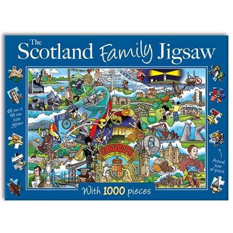 The Scotland Family Jigsaw Puzzle ( 1000 Pieces )