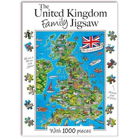 The United Kingdom Family Jigsaw Puzzle ( 1000 Pieces )