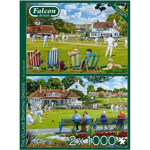 The Village Sporting Green Jigsaw Puzzle ( 2 X 1000 Pieces )