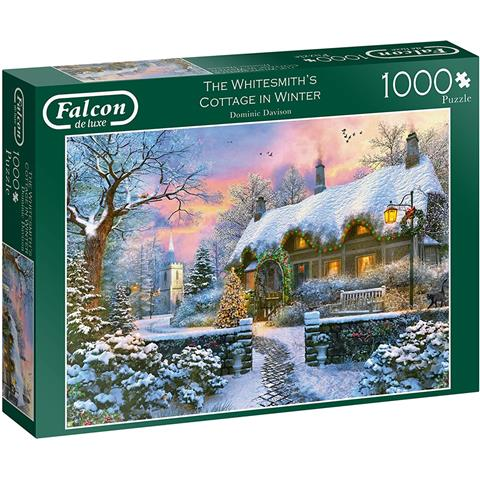 The Whitesmiths Cottage in Winter Jigsaw Puzzle ( 1000 Pieces )