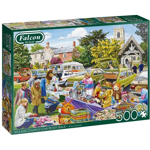 Village Church Car Boot Sale Jigsaw Puzzle ( 500 Pieces )