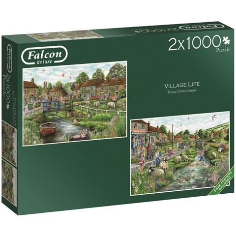 Village Life Jigsaw Puzzle ( 2 X 1000 Pieces )