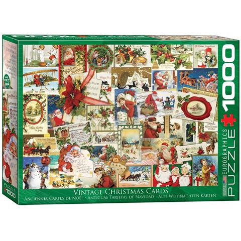 Vintage Christmas Cards Jigsaw Puzzle ( 1000 Pieces )
