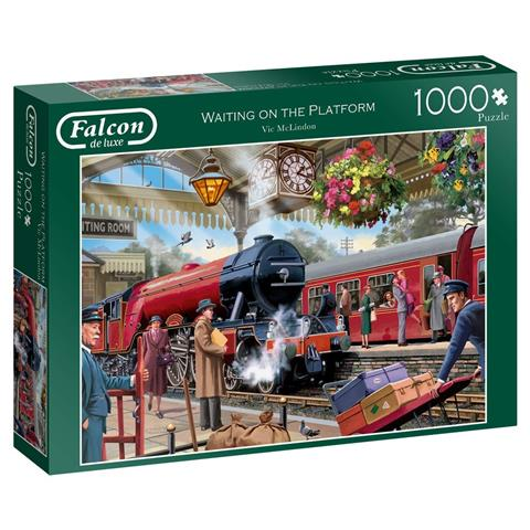 Waiting on the Platform Jigsaw Puzzle ( 1000 Pieces )