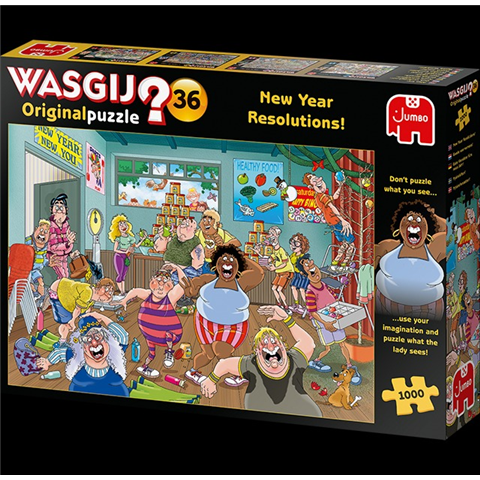 Wasgij Original 36 - New Year Resolutions Jigsaw Puzzle ( 1000 Pieces )